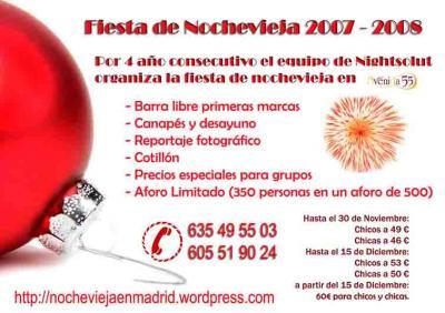 ¿ noxevieja ? Fiesta de nochevieja en madrid 2007 - 2008