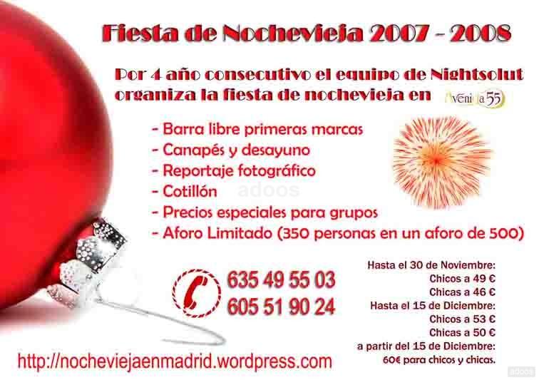 Fiesta de NOCHEVIEJA en MADRID 2007-2008 nochevieja en madrid
